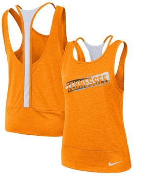 Nike Women's Tennessee Orange/White Tennessee Volunteers Loose Racerback Performance Tank Top