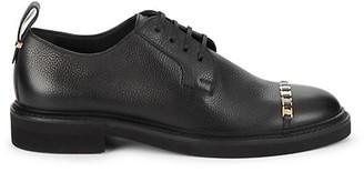 Salvatore Ferragamo Policorovictor Nero Leather Oxfords