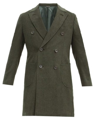 Thom Sweeney - Double-breasted Wool Overcoat - Dark Green
