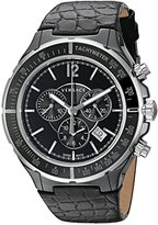 Versace Men's 28CCS9D008 S009 Dv Stainless Steel Watch with Black Leather Band