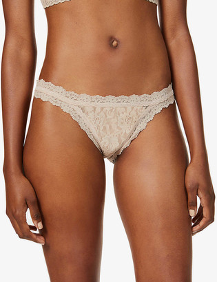 Hanky Panky Signature mid-rise stretch-lace briefs