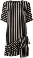 Love Moschino striped short-sleeve shift dress