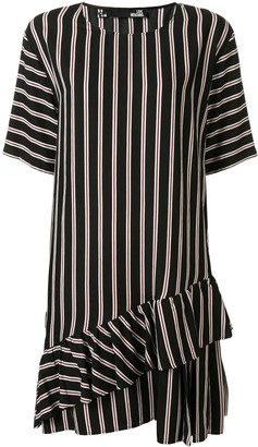 Love Moschino striped short-sleeve shift dress
