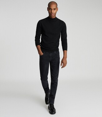 Reiss Harun - Tapered Slim Fit Jeans in Black