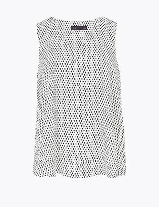 Marks and Spencer Printed V-Neck Vest