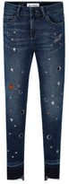 DL1961 Toddler Girl's Chloe Galaxy Embroidered Skinny Jeans