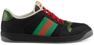 Gucci Screener Suede Sneakers