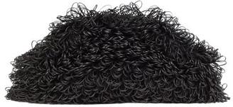 Bottega Veneta The Sponge Leather Clutch Bag - Womens - Black
