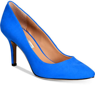 INC International Concepts Inc Women Zitah Rhinestone Pointed Toe Pumps, Women Shoes