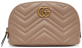 Gucci Pink GG Marmont 2.0 Quilted Cosmetic Pouch