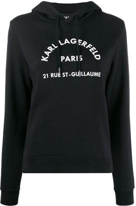 Karl Lagerfeld Paris Address Logo Hoodie