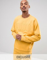 Puma Oversized Crew Sweatshirt in Yellow Exclusive to ASOS