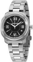 Wenger Women's 34mm Steel Bracelet & Case Anti Reflective Sapphire Quartz Black Dial Watch 01.1121.109