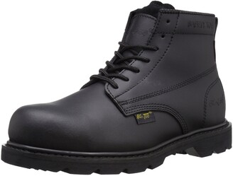 AdTec Ad Tec Mens 6 Inch Ideal Uniform Work Boots with Composite Plastic Toe Non Metallic Shank Oil-Resistant and Electrical Hazard Outsole