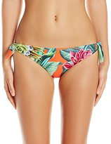 Mara Hoffman Women's Cactus Floral Reversible Tie Side Bikini Bottom