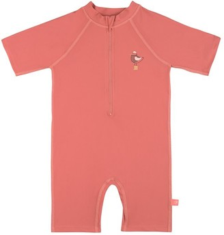 Lassig Short Sleeve Sunsuit - Mrs. Seagull Coral 6m