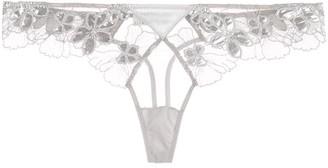 Fleur Du Mal Scalloped Lace Thong