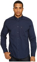 Ben Sherman Long Sleeve Classic Polka Dot Shirt Men's Clothing