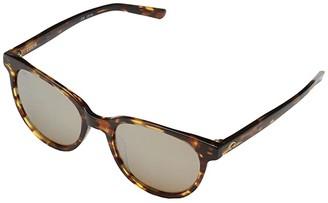 &'Costa Costa Isla (Copper Silver Mirror 580G/Shiny Tortoise Frame) Fashion Sunglasses