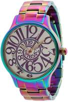 Betsey Johnson BJ00040-11 Analog Rainbow Stainless Steel Case and Bracelet Watch Analog Watches