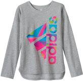 adidas Girls 4-6x Shirttail Graphic Tee