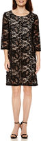 Liz Claiborne 3/4-Sleeve Lace Shift Dress