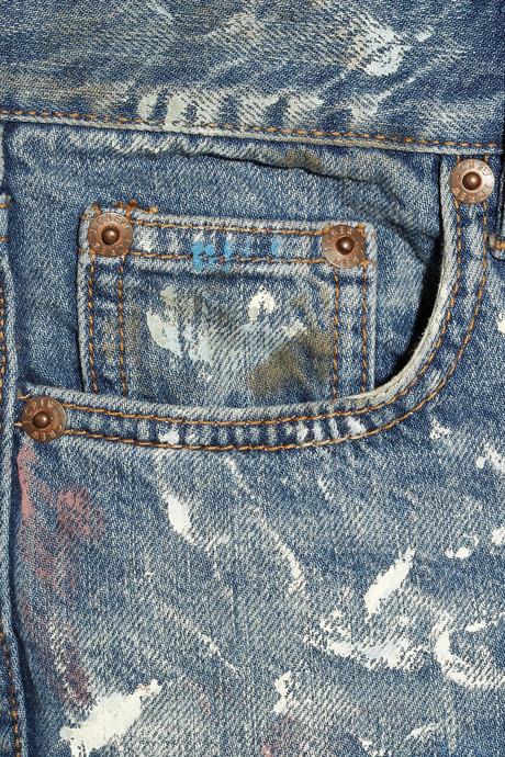 J.Crew Paint-splatter mid-rise straight-leg jeans
