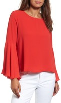 Vince Camuto Petite Women's Bell Sleeve Blouse