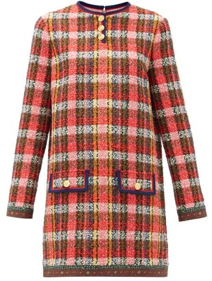 Gucci Silk-trim Wool-blend Tweed Mini Dress - Multi