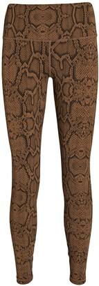 Varley Luna Python Printed High-Rise Leggings