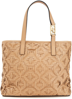 Alberta Ferretti Woven Leather Tote