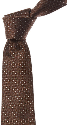Canali Brown Dots Silk Tie