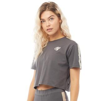 Crosshatch Womens Karina CRS Crop Taped T-Shirt Magnet