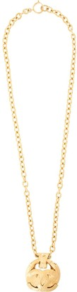 Chanel Pre Owned 1994 Diamond Quilted Medallion Necklace
