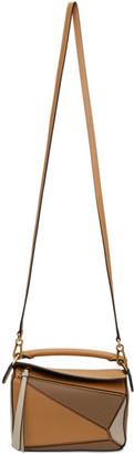 Loewe Brown and Beige Mini Puzzle Bag