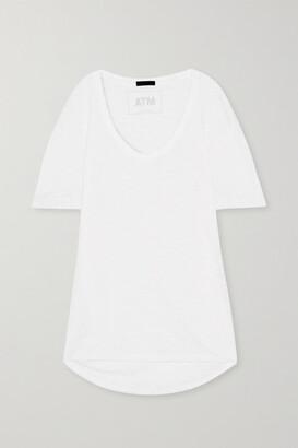 ATM Anthony Thomas Melillo Boyfriend Slub Cotton-jersey T-shirt - White