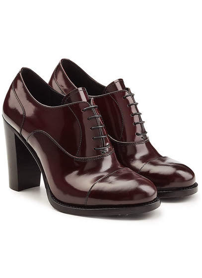 Church's Patent Leather Pumps with Lace-Up Front