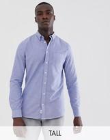 Burton Menswear Big & Tall oxford shirt in blue