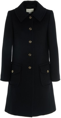 Gucci Logo Buttoned Single Breasted Coat