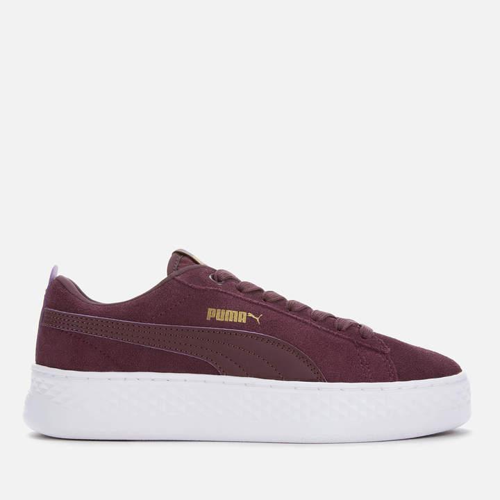 Buty dla dziewcząt PUMA Suede Platform SD Jr UK 3 to 6 Black