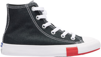 Converse Hi Basketball Shoes - Black / Red Amarillo