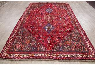 "Schick Bloomsbury Market One-of-a-Kind Tribal Persian Design Hand-Knotted 5'10"" x 8'11"" Wool Red Area Rug Bloomsbury Market"