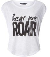 Dorothy Perkins Womens **Only Play White Cat Short Sleeve T-Shirt- White