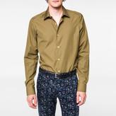 Paul Smith Men's Tailored-Fit Khaki Poplin Shirt