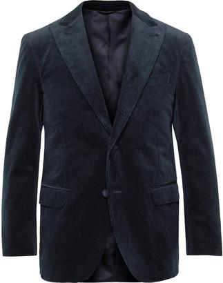 Navy Cotton-Corduroy Suit Jacket