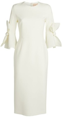 Roksanda Lavete Bow Sleeve Midi Dress