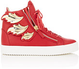 "Giuseppe Zanotti Men's ""Cruel"" Double-Zip Sneakers-RED"