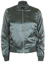 Petite shiny ma1 bomber jacket