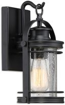 Quoizel Booker Single-Light 11.5-Inch Wall Lantern in Mystic Black