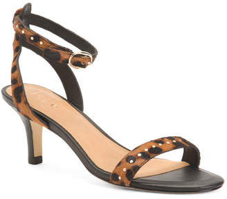 Malina Strappy Leopard Haircalf Sandals